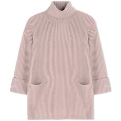 Carven Long Sleeve Jumper (4,575 EGP) ❤ liked on Polyvore featuring tops, sweaters, skin color, ribbed sweater, turtleneck sweater, ribbed turtleneck, wool jumper and wool sweater