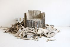 Reborn by Monocomplex. A conceptual twist on Frank Gehry's cardboard furniture collection.