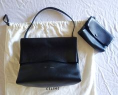 AUTHENTIC CELINE BLACK LEATHER ALL SOFT TOTE BAG (PERFECT FOR EVERYDAY) ~ #CELINE #TOTE