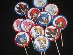 Sonic the hedgehog birthday party cupcake by BudgetBirthdays
