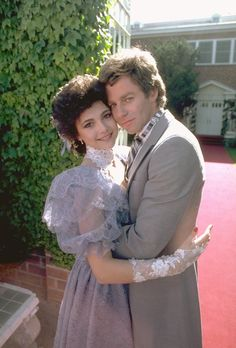 Holly (Emma Samms) learned she was pregnant with Luke's child but Robert (Tristan Rogers) married her to keep Holly from being deported - 1980s #GH50 #GeneralHospital