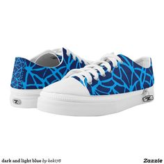 dark and light blue printed shoes