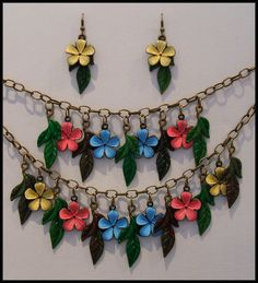 Spring flowers jewellery set...