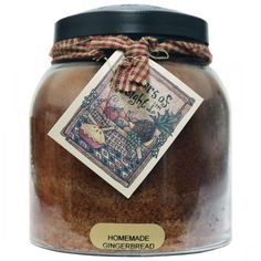 Homemade Gingerbread Papa Jar 34oz - Papa - Keepers of The Light Candles - Candles