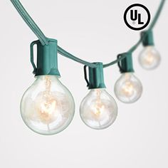 100Ft G40 Globe String Lights with 102 Bulbs Candelabra Screw Base (E12) UL-Listed for Indoor/Outdoor Holiday Decoration, Garden, Party, Backyard, Bistro, Pergola *** See this great product.