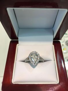 Pear shape diamond engagement ring in a hallow split shank design hand made by diamondline jewellery Buy Diamond Ring, Diamond Jewelry, Diamond Cuts, Real Gold Jewelry, Jewelry Sites, Pear Shaped Diamond, Split Shank, Engagement Rings, Jewellery