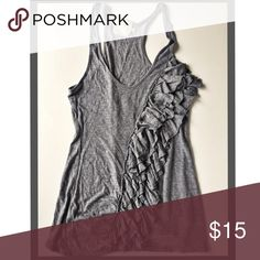 Romantic Charcoal Tank In EUC. Brand is Pins & Needles from Urban Outfitters.  Razorback cut. Fits small- med          Prices are as listed and nonnegotiable ✅Use the Bundle Feature to receive 10% off 2 + items & save on shipping ❌But there are no additional discounts Urban Outfitters Tops Tank Tops