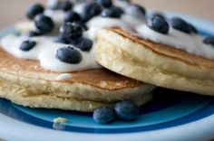 Oatmeal & blueberry pancakes