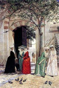 Osman Hamdi Bey, Cami Kapısındaki Kadınlar