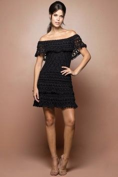 Black Martini Crochet Dress - Vanessa Montoro USA                                                                                                                                                      More