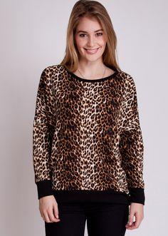 Hi-Low Leopard Print Top