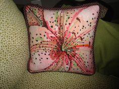 Abstract Pattern Needlepoint Pillow
