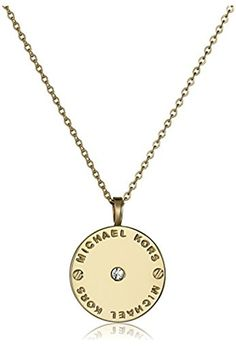 Michael Kors Tone Logo Pendant Necklace