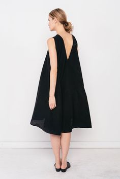 Harlow Dress in Hemp Gauze