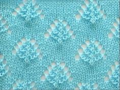 Punto TRENZAS FANTASÍA. Tejido con dos agujas Loom Knitting Projects, Knitting Videos, Easy Knitting, Knitting Designs, Crochet Projects, Lace Knitting Stitches, Knitting Charts, Knit Patterns, Stitch Patterns