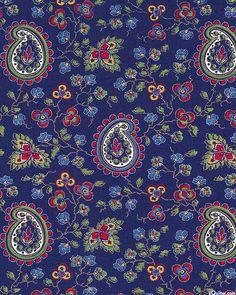 Lorraine - Paisleys in the Garden - Navy Blue