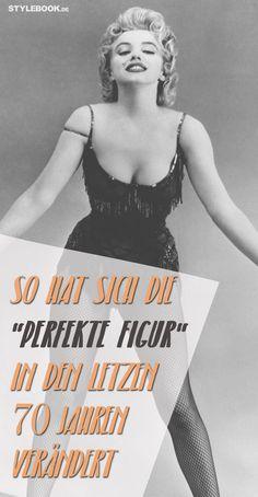 """Man sagt, Schönheit liegt im Auge des Betrachters. Doch Fakt ist, dass letztendlich unsere Gesellschaft das Schönheitsideal prägt. Und was als schön gilt, ändert sich pro Dekade: Während in den 50er-Jahren noch ein weiblicher Körper mit Busen, Bauch und Po gefragt war, wollten Frauen nur zehn Jahre später so aussehen wie das dünne, knabenhafte Model Twiggy. Wir haben die """"Figurtrends"""" der letzten 70 Jahre aufgeschlüsselt – von Kurven, über Knochen bis hin, dank Kim Kardashian zum Superpo."""