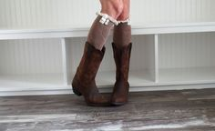 Set Of Two Womens Boot Socks Womens Boot cuffs by uptowngirlco