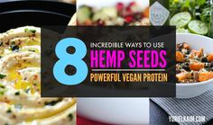 Looking for a versatile way to enjoy high-protein hemp hearts and hemp seeds? Here are 8 incredible recipes that make it easy to add this quality vegan protein to your diet.