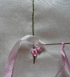 Silk Ribbon Embroidery: Foxgloves in Silk Ribbon