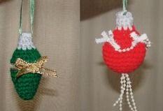 Adorable crochet lights ornaments
