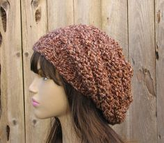 Hand Knit Hat - Slouchy Hat -Multicolored