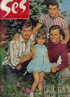 ✿ ❤ Tamer Yiğit, Sema Atalay, Tunç Okan & Ediz Hun ~ Ses Dergisi, 1965