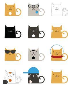Matt Scribner - Cats for Kassie - Cats in Art - Katzen Crazy Cat Lady, Crazy Cats, I Love Cats, Cute Cats, Funny Cats, Funny Jokes, Gatos Cats, Motifs Animal, Photo Chat