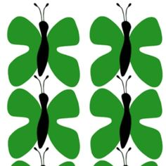 Fjaril (Butterfly) Green – The Swedish Fabric Company