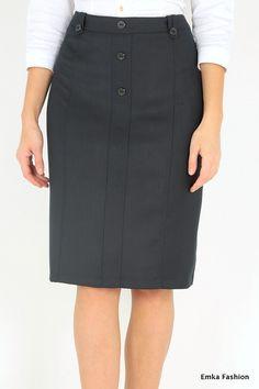 Черная юбка Emka Fashion 413-aleksa Full Skirts, Mini Skirts, Work Attire Women, Dress Patterns, Dress Skirt, High Waisted Skirt, Fashion Dresses, Rock, Womens Fashion