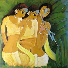 'Full Of Music' a beautiful painting by Indian Artist Pallavi Walunj