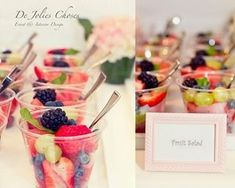 Fruit salad cup for baby shower....