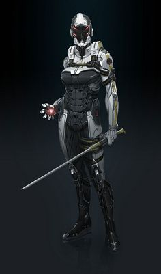 Mass Effect 3 - Phantom, futuristic clothing, future, cyber, cyborg, sword, android