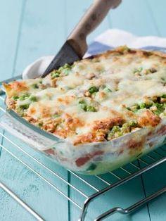 Lasagne met spinazie, tomaat, mozzarella, erwtjes, Italiaanse ham en pijnboompitten | Spar
