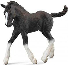 CollectA Shire Horse Fohlen schwarz