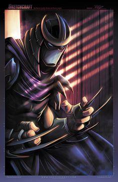 Shredder - Sketches 030 by RobDuenas Teenage Ninja Turtles, Ninja Turtles Art, Freddy Krueger, Shredder Tmnt, Star Wars Personajes, Darth Vader, King Kong, The Villain, Comic Art