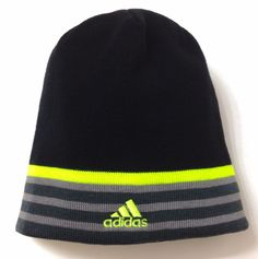 e3daf97a445 New 20 ADIDAS®REVERSIBLE BEANIE Black amp Neon