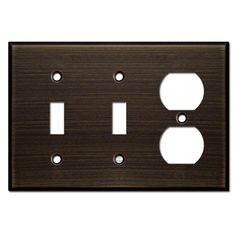 Double Toggle/Single Outlet Cover - Oil Rubbed Bronze
