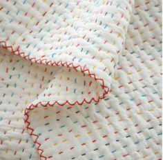 doorgestikte deken