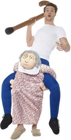 Blue and White Piggyback Grandma Unisex Adult Halloween Costume Adult Halloween, Halloween Costumes, Teenager, Unisex, Blue And White, Knit Patterns, Breien, Halloween Costumes Uk