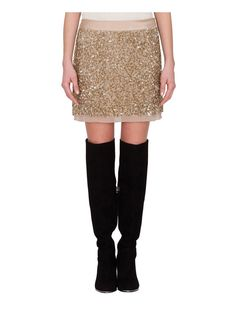 Gonna di paillettes all-over