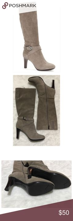 Anne Klein Cadencia suede boot size 10 NWOB! Sold out at Lord & Taylor. Made with iflex technology =comfortable sole. See info from the web last frame. Anne Klein Shoes Heeled Boots