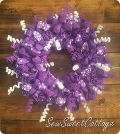 Purplicious balloon wreath--Sew Sweet Cottage