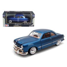 1949 Ford Coupe Blue 1-24 Diecast Model Car by Motormax