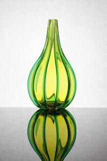 "Archimede Seguso Vetreria Artistica Archimede Seguso a ""Costolature Verticali"" Vase Italy 1952"