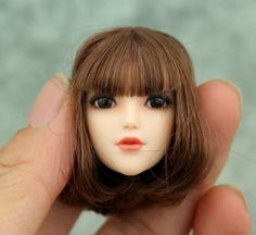 """38.69$  Watch more here - http://airuq.worlditems.win/all/product.php?id=32689919242 - """"Female 1/6 Movable Eyes Head Sculpt Plague Nation Girl Short Brown Culy Hair For 12"""""""" Action   Body Figures Accessories"""""""