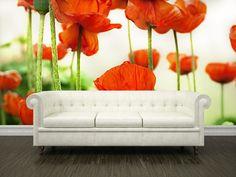 Eazywallz  - Poppy flowers Wall Mural, $126.36 (http://www.eazywallz.com/poppy-flowers-wall-mural/)