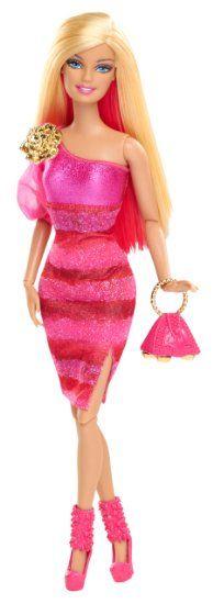 Amazon.com: Barbie Fashionista Barbie Doll - Hot Pink Dress