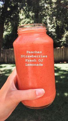 #レモネードピーチ+ストロベリー+フレッシュ+レモネード=?… - What you need to know for a healthy life Healthy Smoothie Recipes, Smoothie Fruit, Apple Smoothies, Yummy Smoothies, Smoothie Drinks, Yummy Drinks, Healthy Drinks, Strawberry Smoothie, Healthy Food
