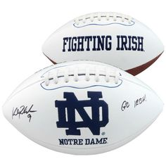"Kyle Rudolph Notre Dame Fighting Irish Fanatics Authentic Autographed White Panel Football with ""Go Irish"" Inscription - $119.99"